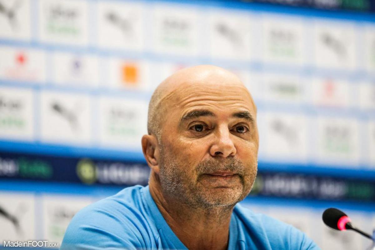 Jorge Sampaoli en conférence de presse.