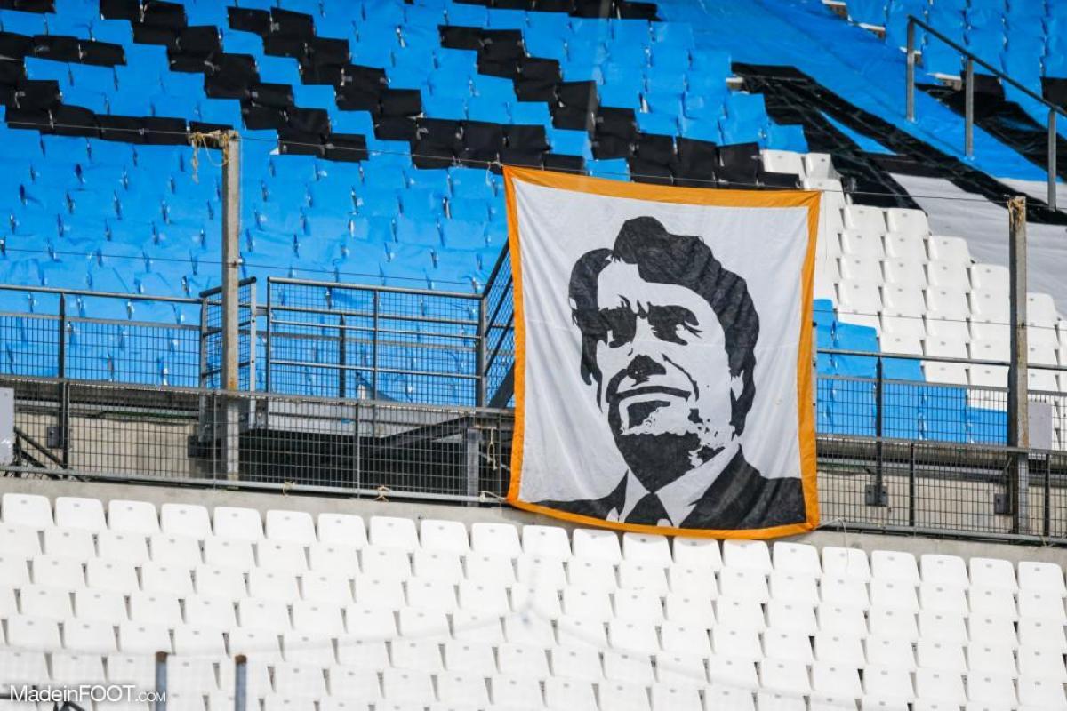 L'hommage des supporters à Bernard Tapie