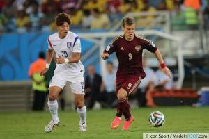 Kokorin lors du Mondial 2014 avec la Russie.