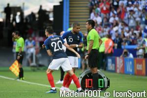 Florian Thauvin (France) a remplacé Kylian Mbappé en fin de match.