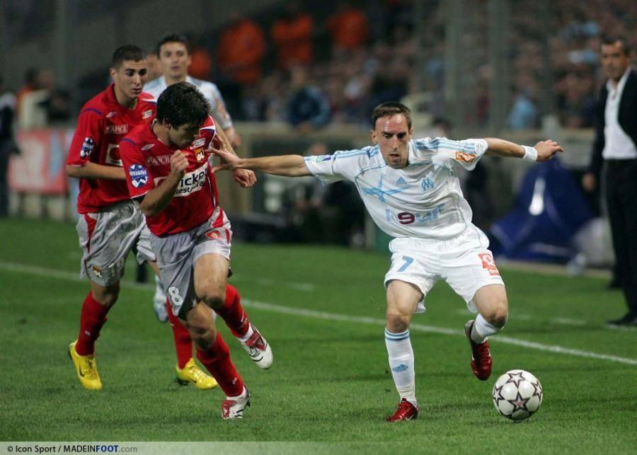 Franck Ribéry a porté les couleurs de l'OM entre 2005 et 2007