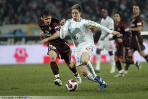 Samir Nasri sous les couleurs de l'OM en 2007.