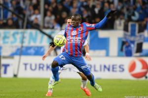N'Golo Kanté, ici sous les couleurs du Stade Malherbe de Caen.