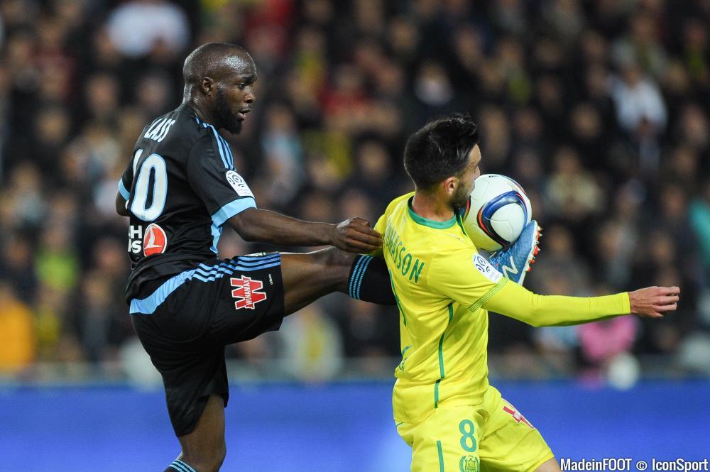 Adrien Thomasson et Nantes ont flanché face à l'OM de Diarra.