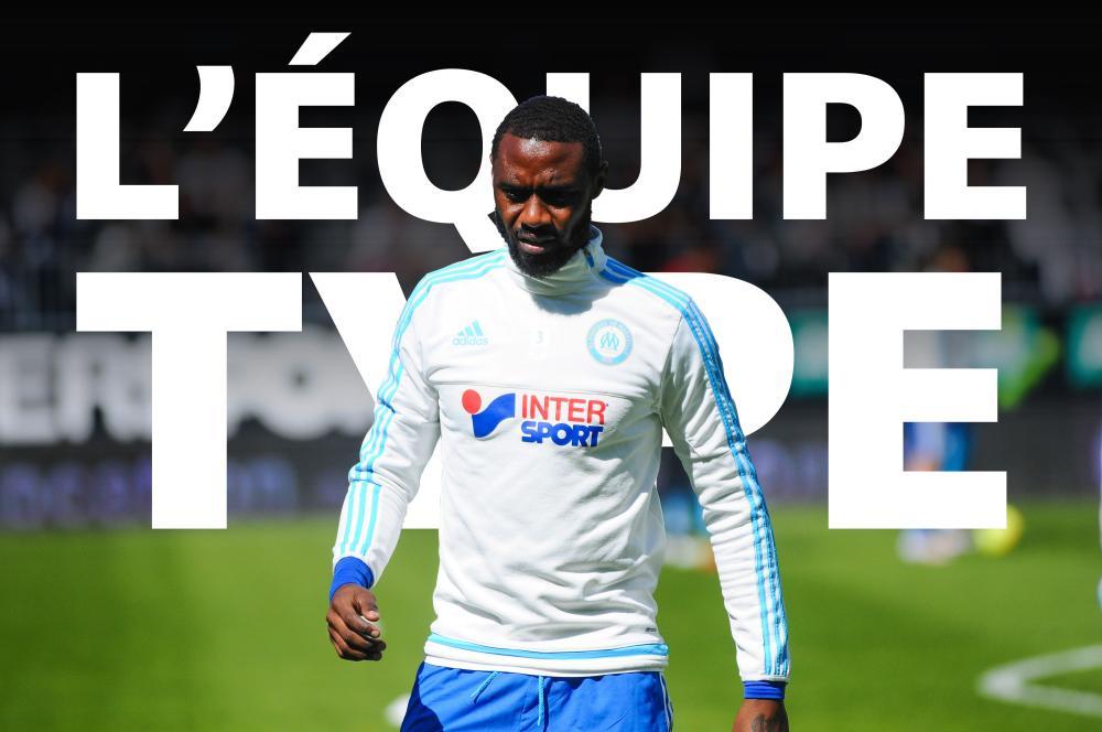 L'équipe-type de la 36e journée de Ligue 1.
