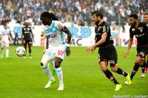 Bafetimbi Gomis, ici sous les couleurs de l'Olympique de Marseille.