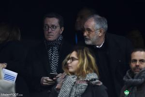 Jacques-Henri Eyraud, le président de l'OM, ici aux côtés d'Andoni Zubizarreta (directeur sportif).