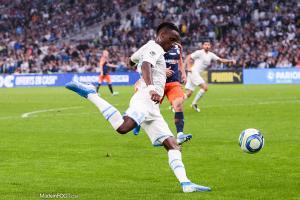 Bouna Sarr, le latéral droit ou ailier droit de l'Olympique de Marseille.