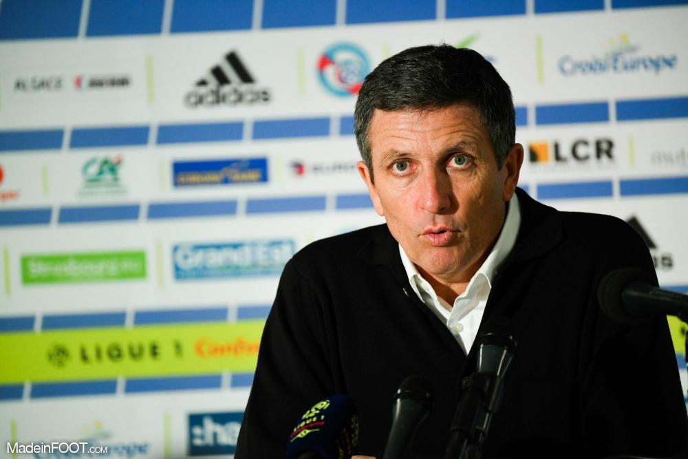 Thierry Laurey, entraineur de Strasbourg