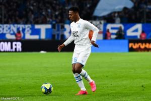 Marley Aké, l'attaquant de l'Olympique de Marseille.