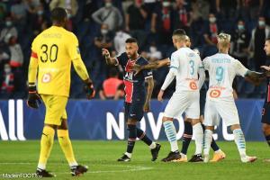 L'album photo du match entre le Paris Saint-Germain et l'Olympique de Marseille.
