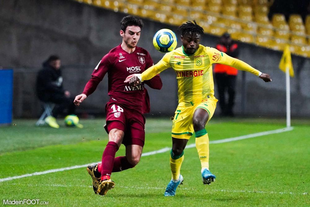 Fabien Centonze, le défenseur latéral droit du FC Metz.