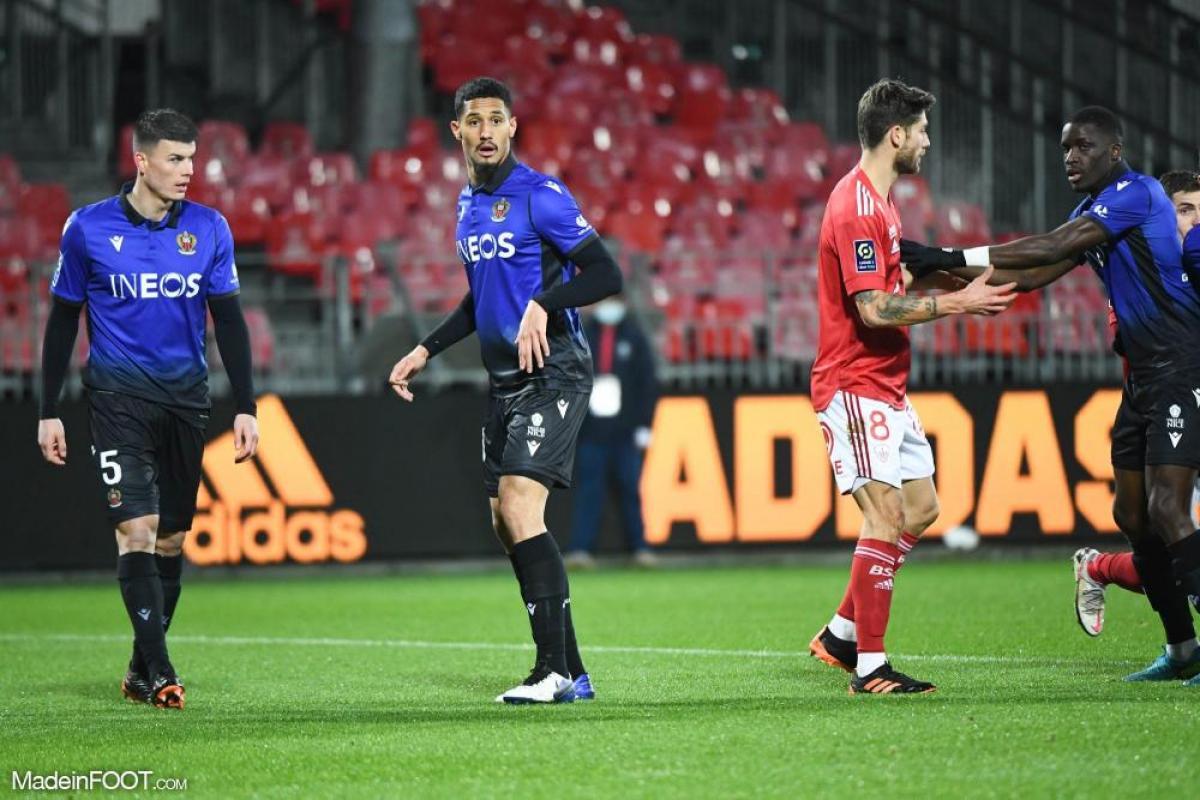 William Saliba, le nouveau défenseur central de l'Olympique de Marseille, ici sous les couleurs de l'OGC Nice.