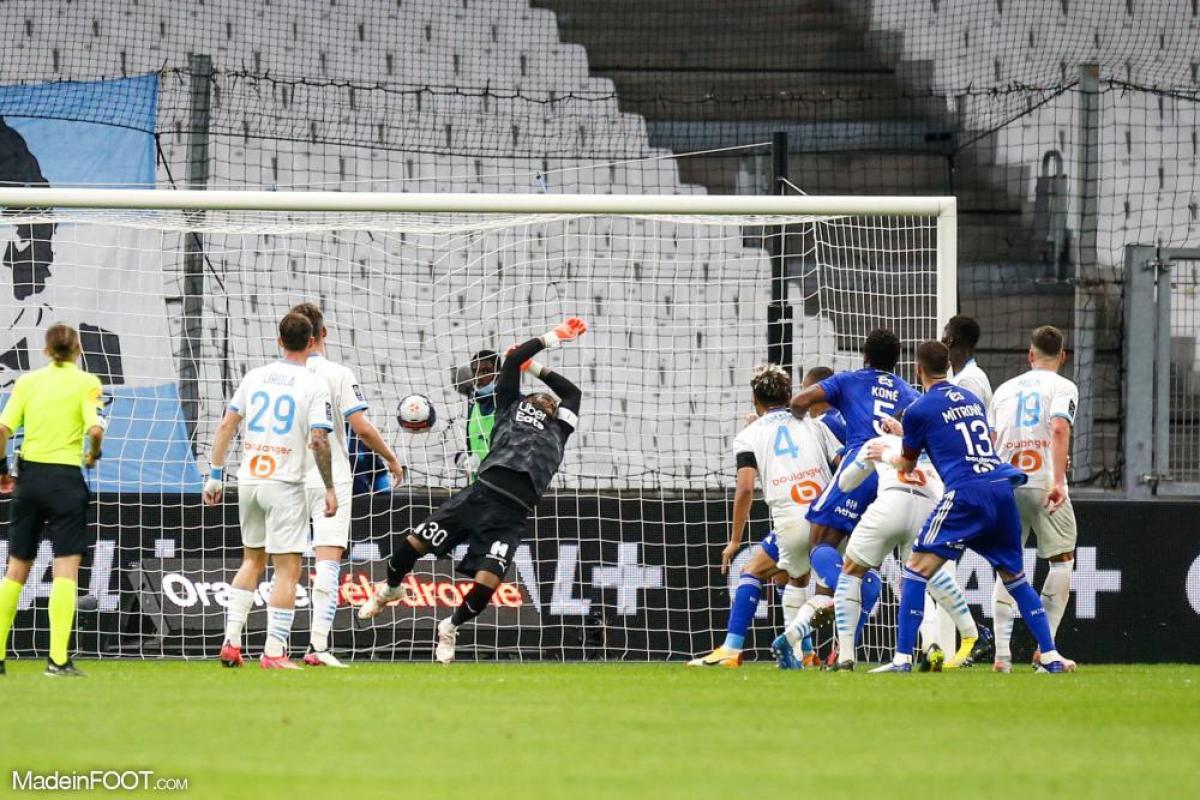 L'album photo du match entre l'Olympique de Marseille et le Racing Club Strasbourg Alsace.