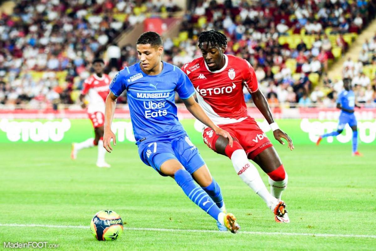 Amine Harit (OM) a joué son premier match contre Monaco