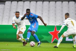 Mady Camara lors de la rencontre face à l'OM en Ligue des Champions