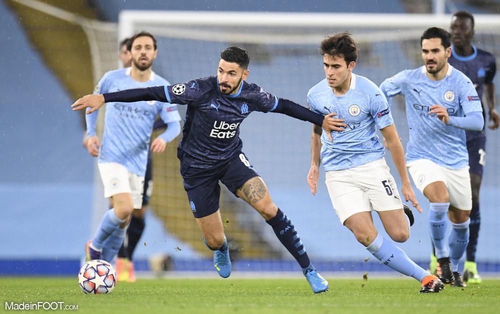 Morgan Sanson face à Manchester City