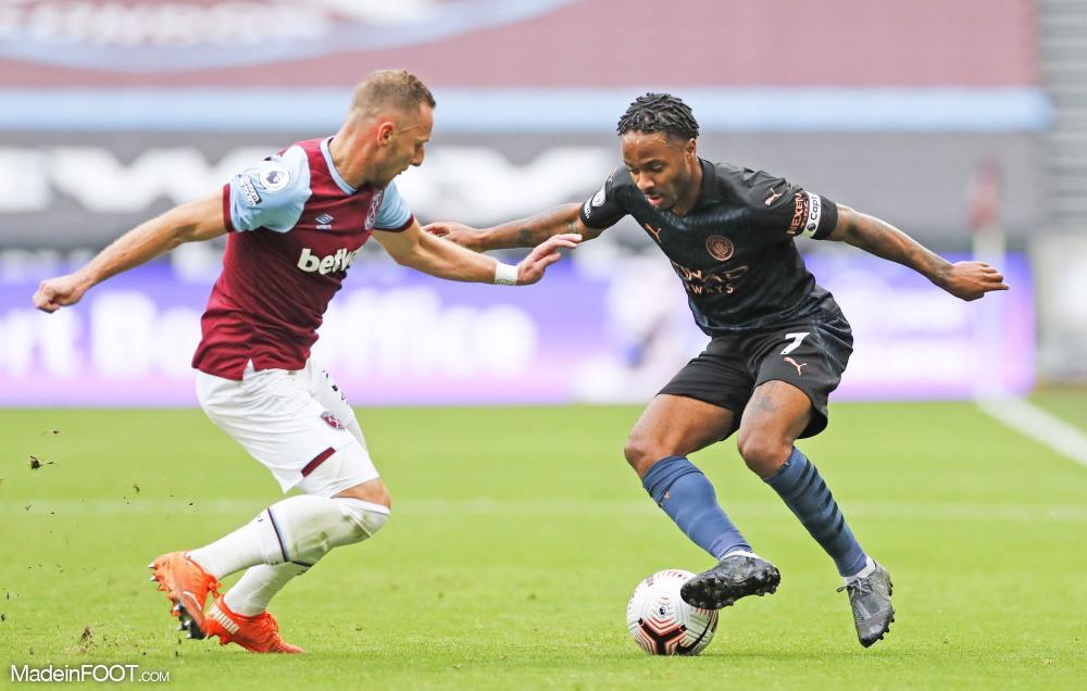 Sterling s'est heurté à la solide défense de West Ham